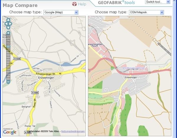 OSM & Google Compare